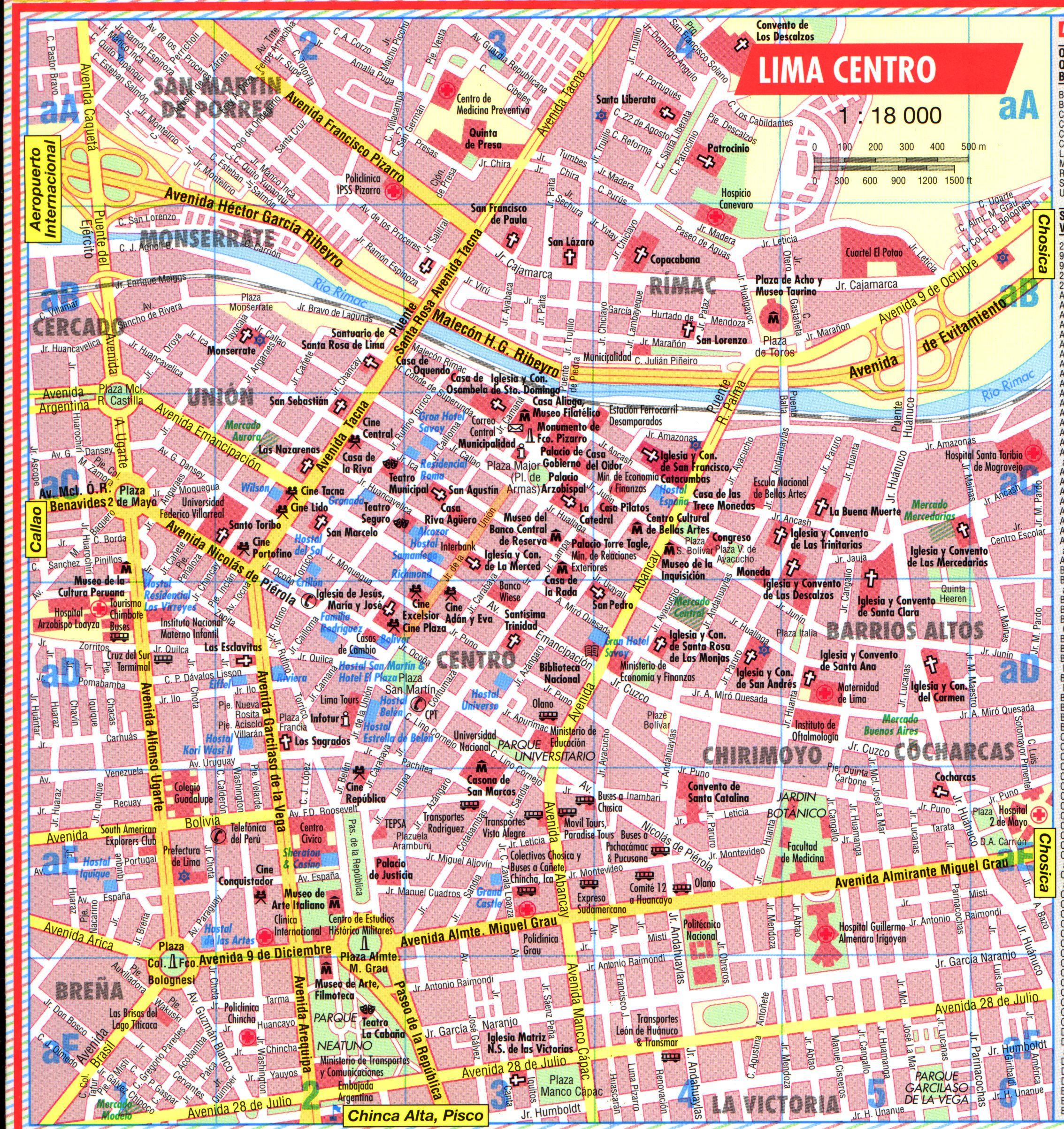 Lima Map | Maps Lima Map