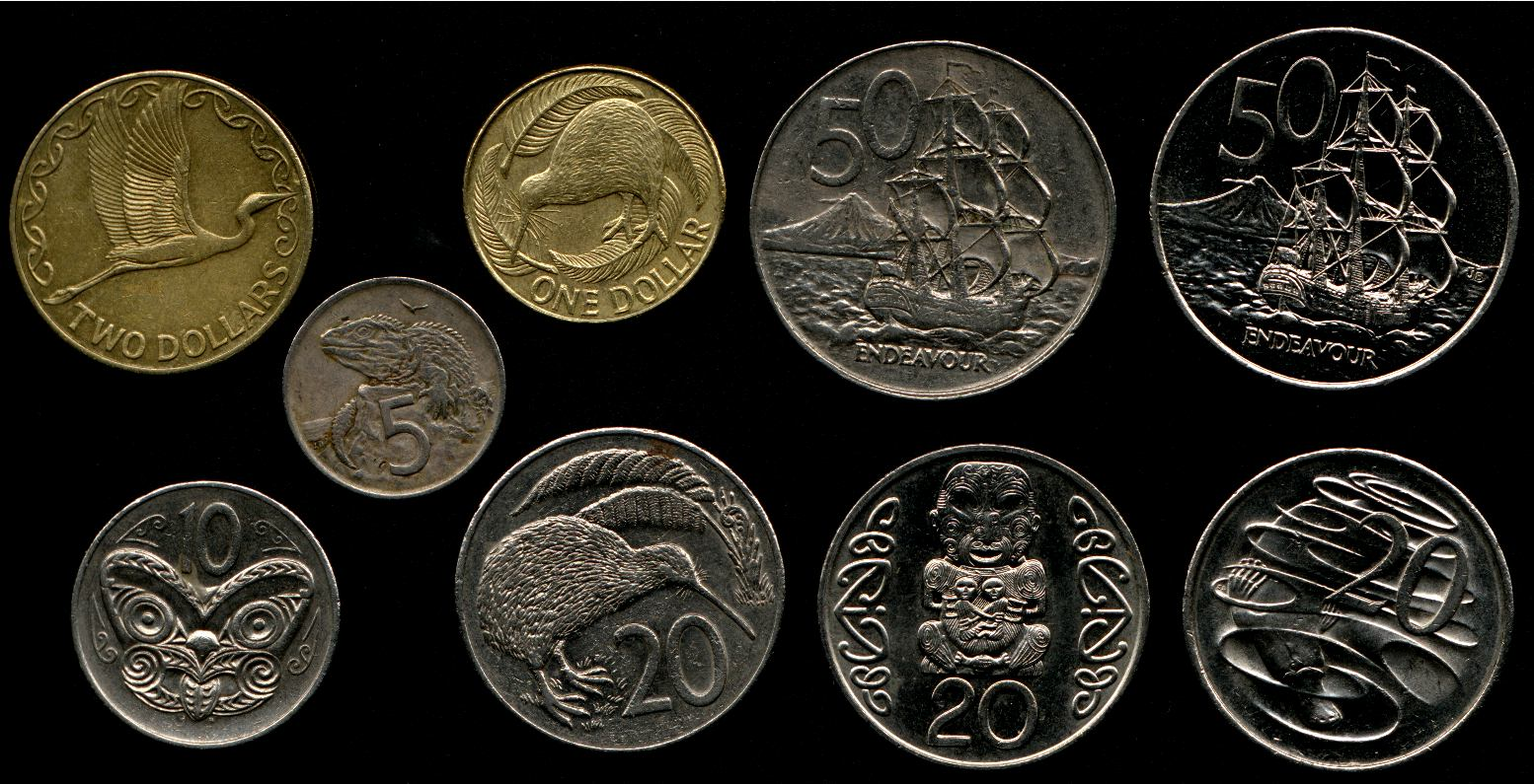 New Zealand Money Coins Side